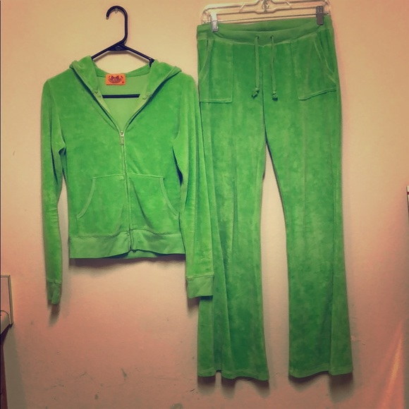 123ca5a10d12 Juicy Couture Pants - Juicy couture athletic jumpsuit lime green small